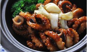 Món ngon cuối tuần: Bạch tuộc xào sốt teriyaki giòn sần sật