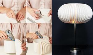Trang trí đèn ngủ độc đáo bằng đĩa nhựa