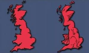 Sự liên tưởng thú vị về hình thù các nước