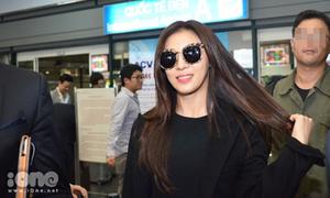 'Hoàng hậu Ki' Ha Ji Won rạng rỡ đến Hà Nội
