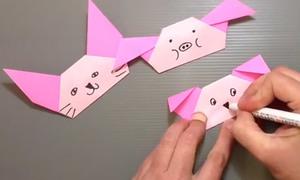 Lọ mọ gấp origami hình thú cực cute
