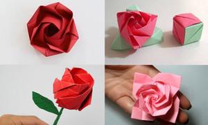 4 cách gấp hoa hồng đẹp mắt