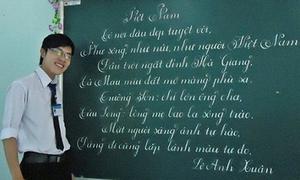 Những thầy giáo viết chữ siêu đẹp khiến trò phục lăn