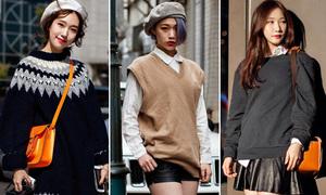 Style trên ấm áp, dưới mong manh của tín đồ thời trang Hàn