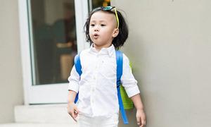 Phong cách chất lừ của nhóc 3 tuổi tóc cạo sát rạt