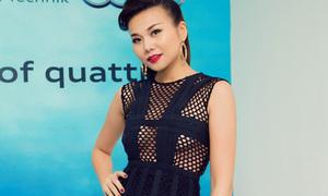 Hot or not: Thanh Hằng khoe dáng với váy lưới chằng chịt