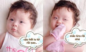 Ảnh chế cười ngất về con gái cực yêu của Elly Trần