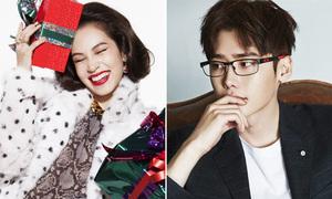 Lee Jong Suk đổi xì tai lia lịa với kính, bạn gái G-Dragon rạng rỡ đón Noel