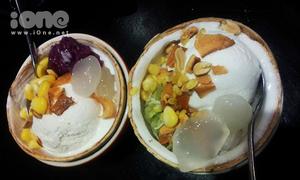 Ngon ngất ngây kem xôi dừa lạ miệng giữa Sài Gòn
