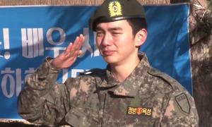 Yoo Seung Ho khóc như mưa trong ngày xuất ngũ