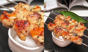 Món ngon cuối tuần: Thịt gà xiên nướng chảo