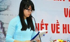 Nữ sinh lớp 12 đạt giải nhất cuộc thi viết về Hoàng Sa