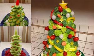 10 cách tạo hình cây thông ngon lành từ thức ăn