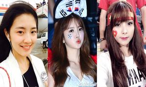 Đọ vẻ xinh xắn của cổ động viên nữ Việt - Trung - Hàn
