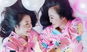 Cặp song sinh Hà thành xinh xắn 'giống nhau từng suy nghĩ'