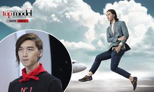 Tấn Khang bị loại vì thử thách 'bay lượn' trên không chụp hình