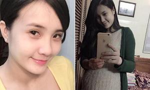 Em gái Công Vinh nặng nề mang thai những tháng cuối