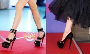 Mỹ nhân Hàn trổ tài đi giày lênh khênh 'chóng mặt'