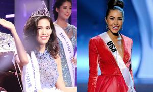 Lan Khuê ứng xử giống hệt Hoa hậu Hoàn vũ 2012