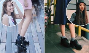 Giày ăn gian chiều cao 'đi mãi không chán' của hot girl Việt