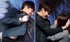 Lee Min Ho ôm ấp fan siêu tình cảm