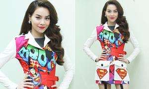 Hot or not: Hà Hồ gây choáng với thời trang siêu nhân màu mè