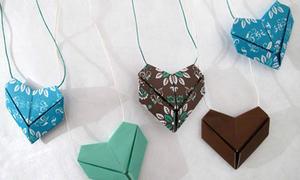 Lời tỏ tình dễ thương với trái tim origami