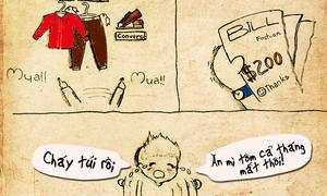 Bộ tranh dễ thương về văn hóa mua sắm 'trúng tim đen' nhiều bạn trẻ Việt