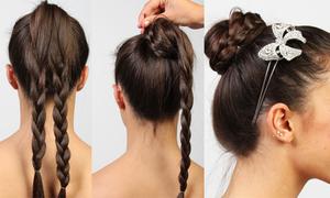 5 phút có ngay kiểu tóc búi tết năng động