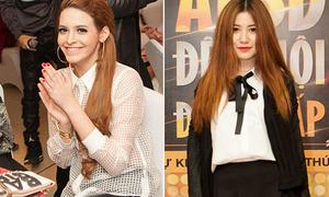 Andrea cổ vũ Yanbi cực sung, An Japan xinh tươi style nữ sinh