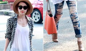 Hot or not: Ngân Khánh chơi trội với jeans rách te tua