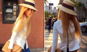 Hot or not: Trang Khiếu nhuộm tóc vàng chóe như gái Tây