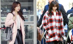Những mẫu áo khoác rực rỡ màu sắc của sao Hàn