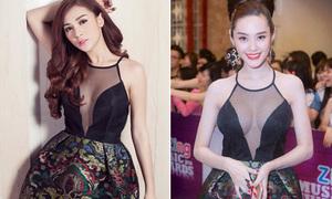 Kelly, Linh Chi đọ dáng với váy hở bạo