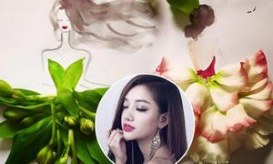 Cô chủ shop xinh đẹp biến cánh hoa thành váy siêu lãng mạn