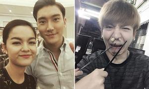 Sao Việt 13/2: Quỳnh Anh tươi rói bên Siwon, Kelvin Khánh nhét lạc vào mũi