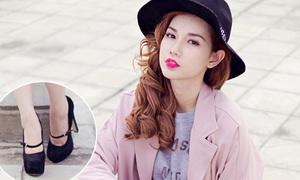 Hot girl Quỳnh Chi phối đồ đủ kiểu đẹp long lanh với một đôi giày