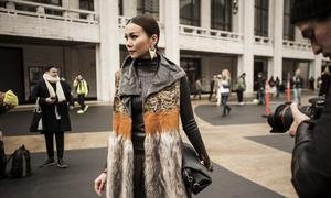 Thanh Hằng đẹp đẳng cấp với đồ hiệu ở tuần lễ thời trang New York