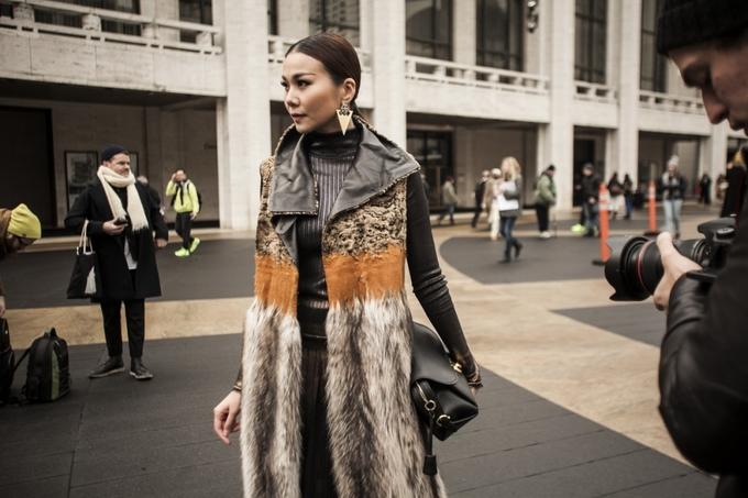 """<p class=""""Normal""""> Siêu mẫu Thanh Hằng đang có mặt tại Mỹ để tham gia <em>New York Fashion Week</em> từ ngày 10/02 đến 17/02.</p>"""