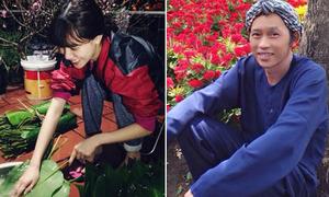 Sao Việt 16/2: Hà Mjn về quê gói bánh chưng, Hoài Linh làm 'trai bán hoa'