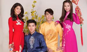 Dàn hot teen Sài thành diện áo dài rực rỡ đón năm mới