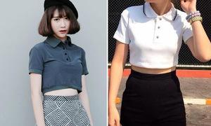 Bắt mốt áo polo croptop xinh như Quỳnh Anh Shyn