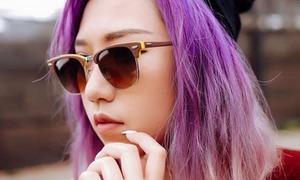 Hot or not: Min St319 nhuộm tóc tím ombre chất lừ