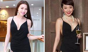Trà Ngọc Hằng, Tóc Tiên so dáng nuột với cùng kiểu váy