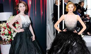 Ngân Khánh bị nghi diện đầm nhái Dior