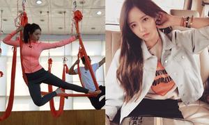 Sao Hàn 11/4: Nana diễn 'xiếc yoga', Hyo Min lơ tin đồn cướp bạn trai