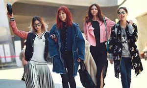 Đồ ra phố đẹp như đi diễn của người mẫu Hàn Quốc
