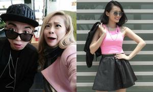 MiA làm mặt xấu cùng Soobin, Mỹ An khoe street style sang chảnh
