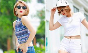 Trang Cherry khoe tài mix 7 kiểu croptop tuyệt xinh khoe eo