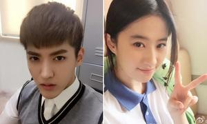 Kris, Lưu Diệc Phi đẹp hoàn hảo trong đồng phục học sinh